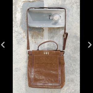 Handbags - NEW Brown Vegan Suede Crossbody Messenger Purse